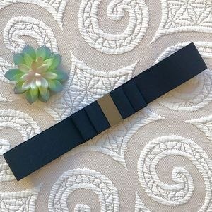 The Limited Wide Elastic Black Bow Waist Belt